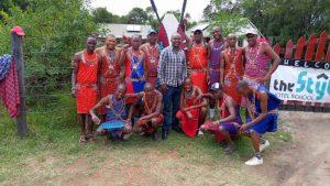 een groep Maasai leerlingen